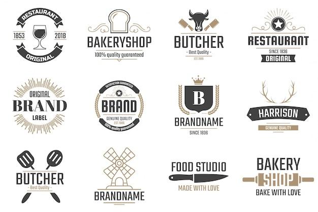 Restaurant retro logo for banner