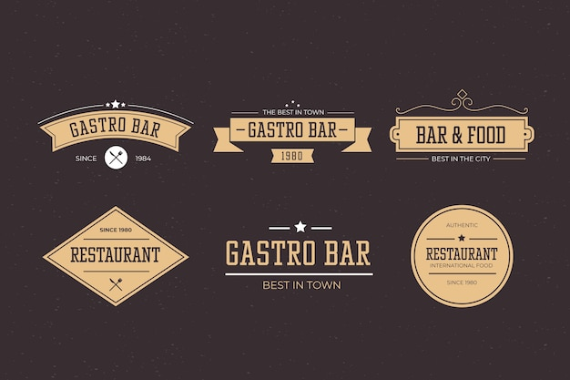 Restaurant retro logo collection