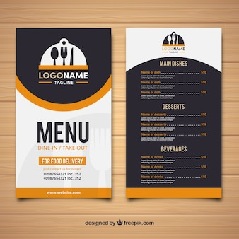Restaurant retro menu