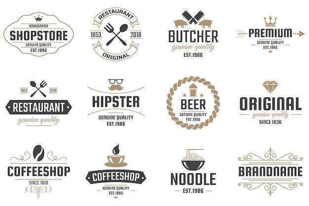 Restaurant retro vector logo for banner