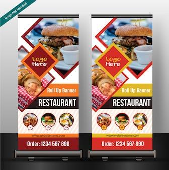 Ресторан roll up баннер