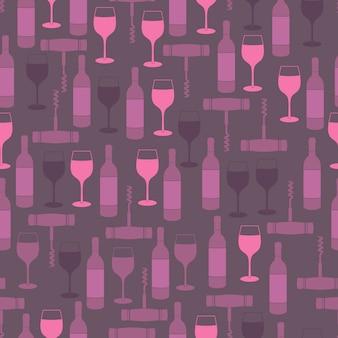 Restaurant seamless pattern purple