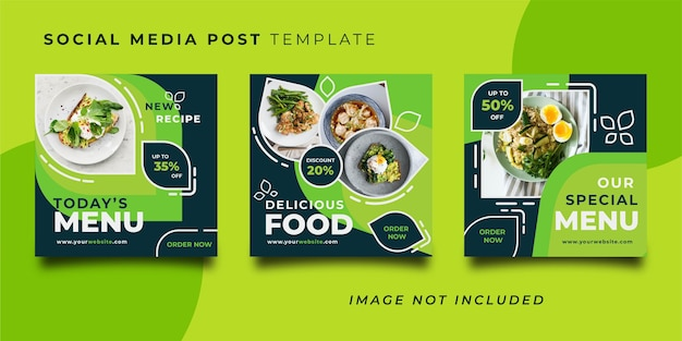 Restaurant social media post template