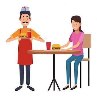 レストランウェイター漫画