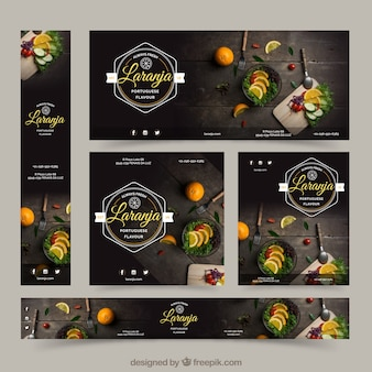 Restaurante banners with food photography