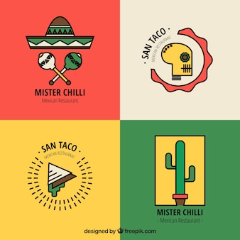 Restautant logos pack for mexican food
