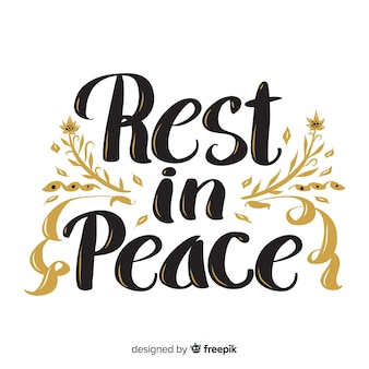 Riposo in caratteri di pace