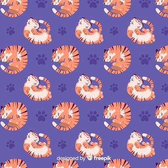 Resting tiger pattern