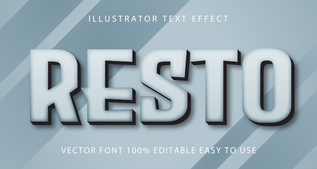 Resto  text effect fully editable