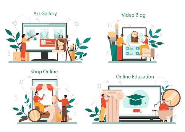 Restorer online service or platform set