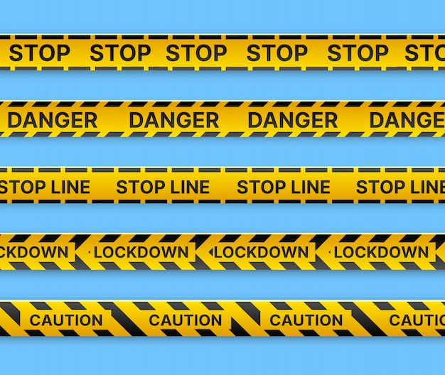 Restrictive stop marking tape  line to fence