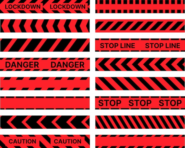 Restrictive stop marking tape pattern seamless line