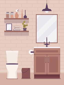 Restroom modern interior and design