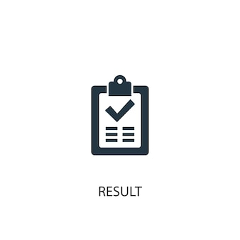 Result icon. simple element illustration. result concept symbol design. can be used for web and mobile.