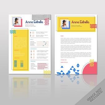 Resume anna color pop a4