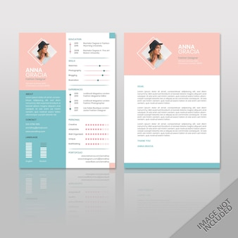Resume anna fashion soft color a4