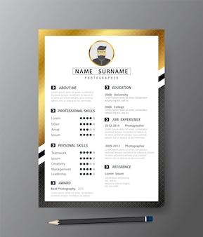 Resume or cv template