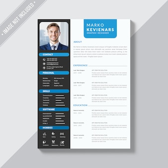 Resume design, professional cv template