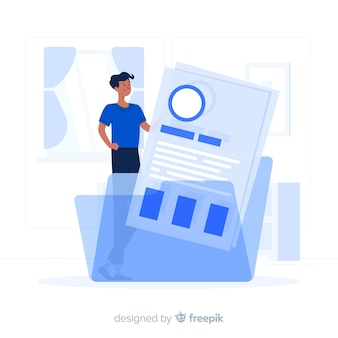 Resume folder concept illustration