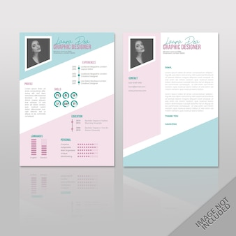 Resume laura soft color a4
