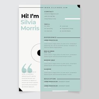 Resume minimalist pastel template