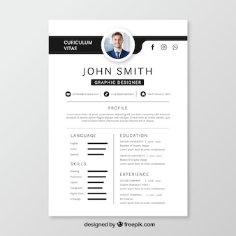 resume template - Resume With Picture Template