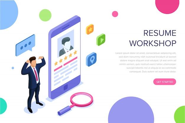 Resume workshop landing page