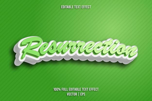 Resurrection editable text effect retro style