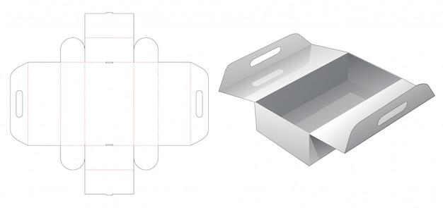 ハンドルダイカットテンプレートが付いた小売用包装箱