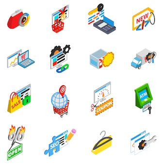 Retailer icon set