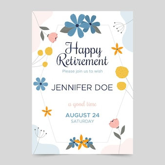 Шаблон поздравительной открытки на пенсию