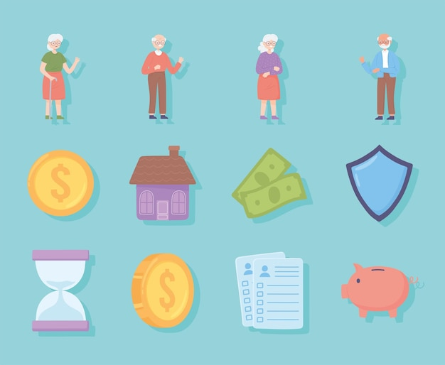 退職者と年金受給者