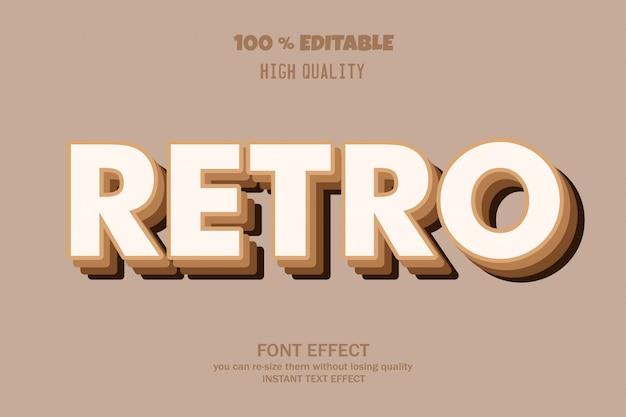 Retro 3d text style,