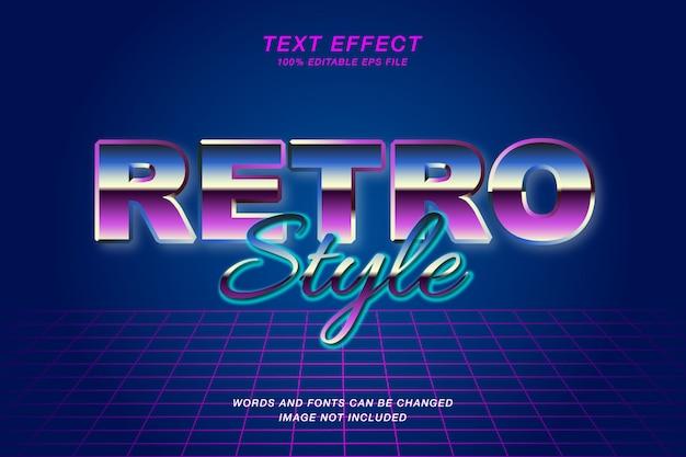 Retro 80's text effect