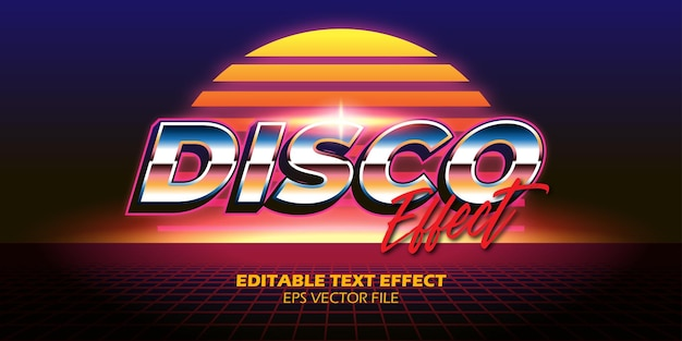 Retro 80s editable text effect