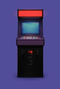 Реалистичная аркадная машина в стиле ретро 80-х
