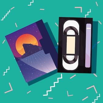 Retro 80s style