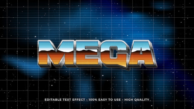 Retro 80s text effect concept