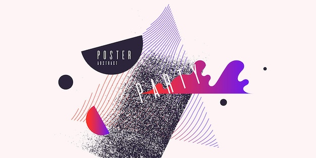Ретро абстрактный фон. плакат с плоскими фигурами. векторная иллюстрация.