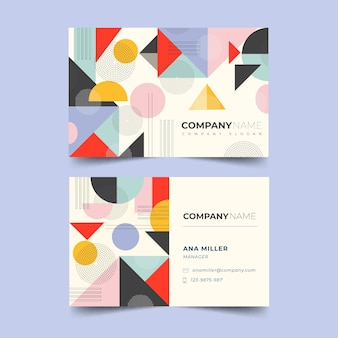 Retro abstract business card template