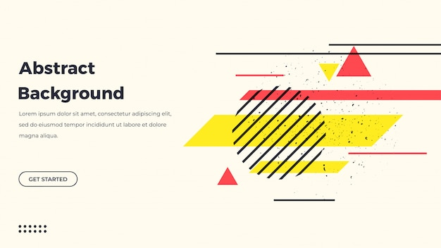 Retro abstract geometric background
