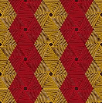 Retro abstract hexagonal geometric texture. fabric pattern.