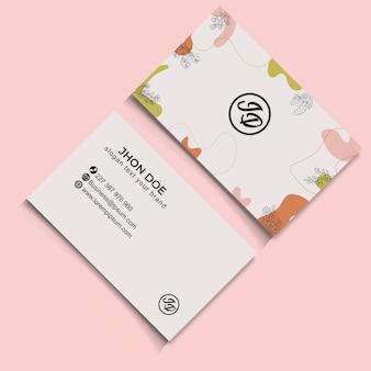 レトロな抽象的な熱帯の花のbussinesカード