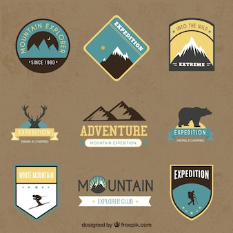 Retro adventure badges