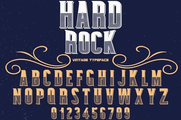 レトロなアルファベットフォントデザインハードロック