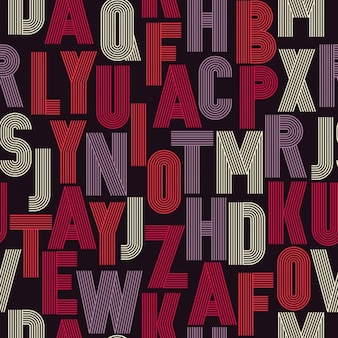 Retro alphabet pattern