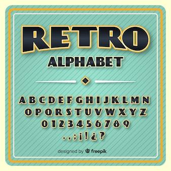 Ретро алфавит
