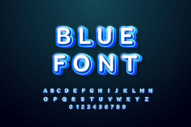 레트로 알파벳 글꼴. 돌출 된 유형의 문자와 숫자. 그림자가있는 큰 글자.