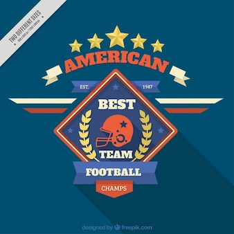 Retro american football background with badge