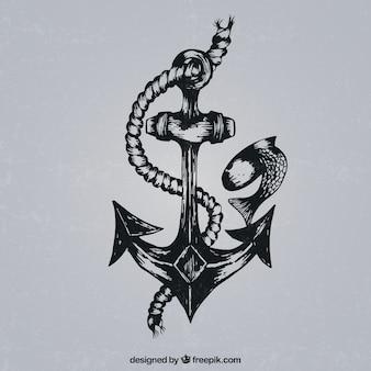 Retro anchor Free Vector